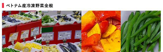 ベトナム産冷凍野菜全般